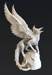 Griffin Zbrush Sculpt by yefumm