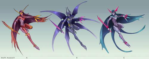 Moth Assassin Variants by yefumm