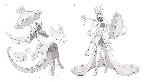 Gwen the Bubble Queen Sketches 1