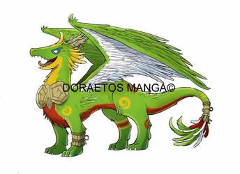 Doraetos Manga Mascotte - Quezal Dragon Form by Dragoon88-DragonDao