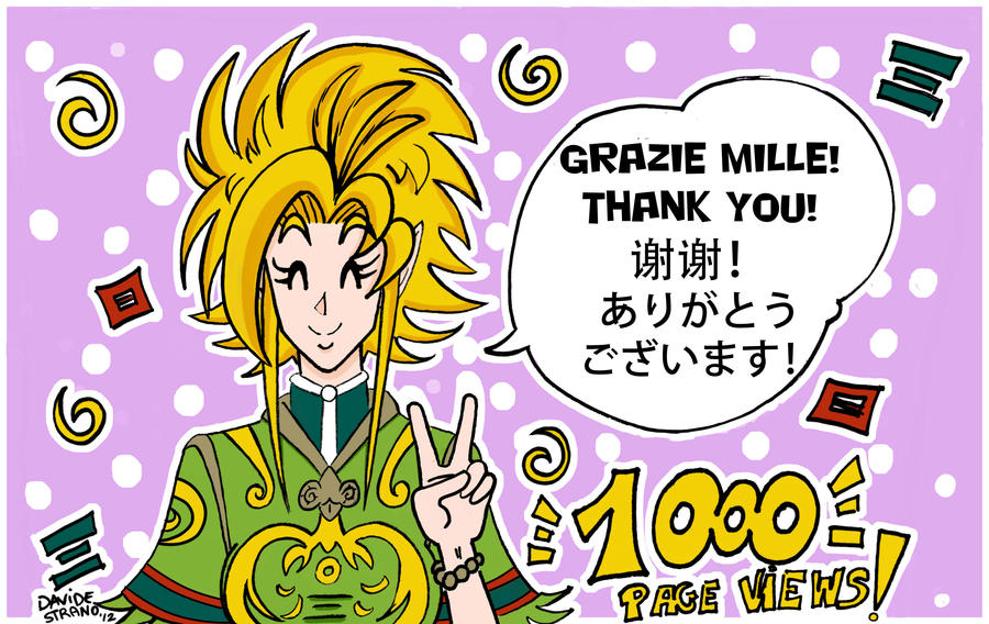 1000 Page Views: Thank You! by Dragoon88-DragonDao