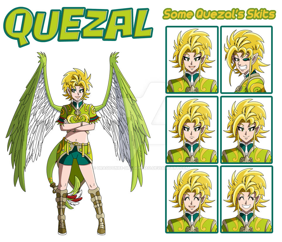 Quezal References 1 - full figure and skits by Dragoon88-DragonDao