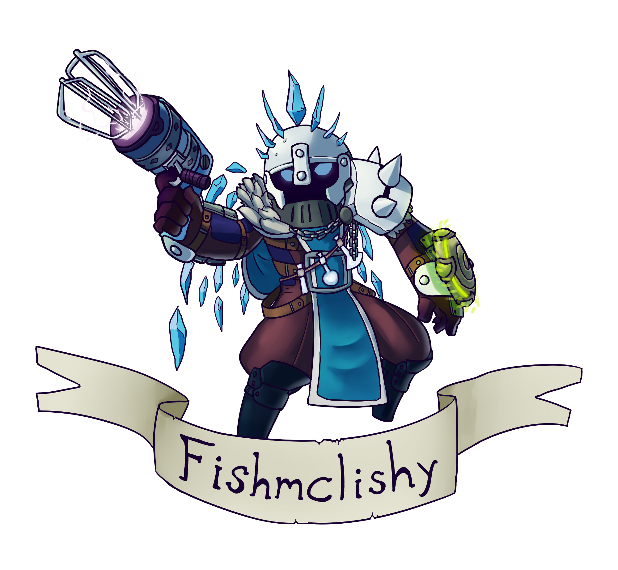 Fishknight by SneakyAlbatross