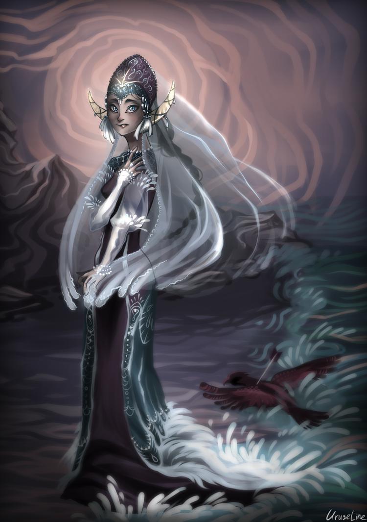 Swan Princess (Alexander Pushkin fairytale) by Uruseline