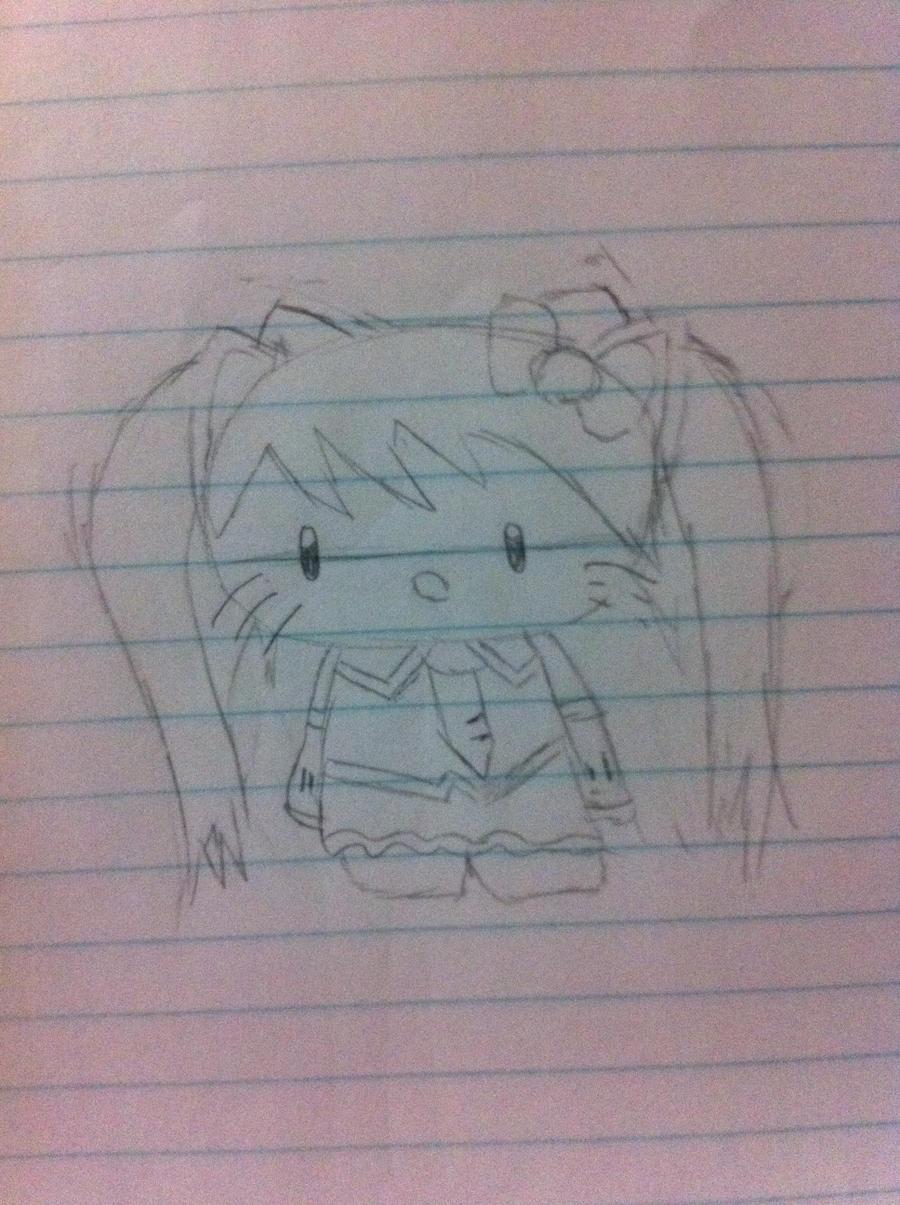 Hello Kitty Miku by CutiePie32510
