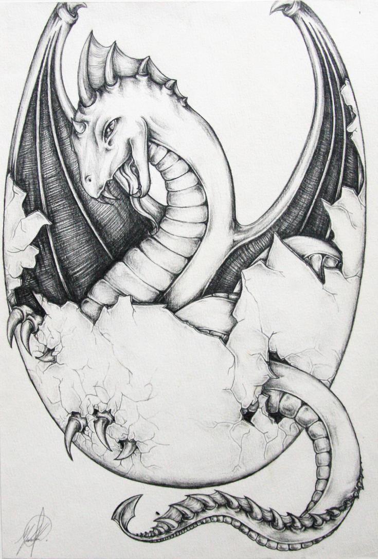 Raaawrrrr Baby Dragon Egg vr2 by Michelle-Kowalczyk on ...