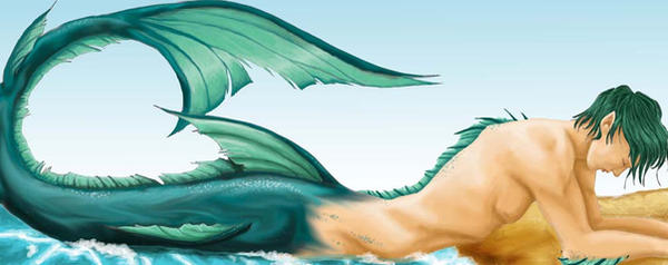 Merman Finished by Faerytale-Wings