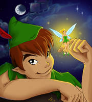 Peter and Tink by Faerytale-Wings