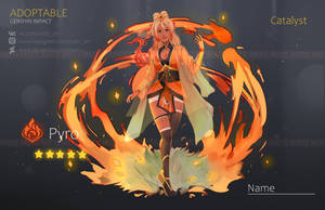 (OPEN) ADOPTABLE - PYRO GIRL by Mef1Z