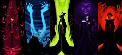 Disney Villains by matthoworth