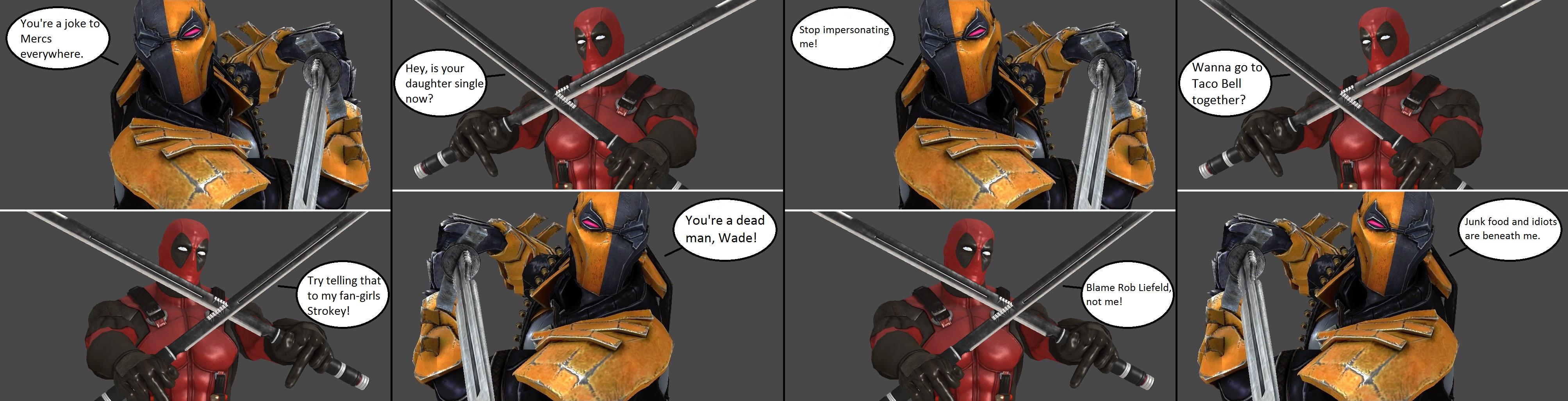 Injustice Deathstroke Vs Deadpool By XXTrettaXx