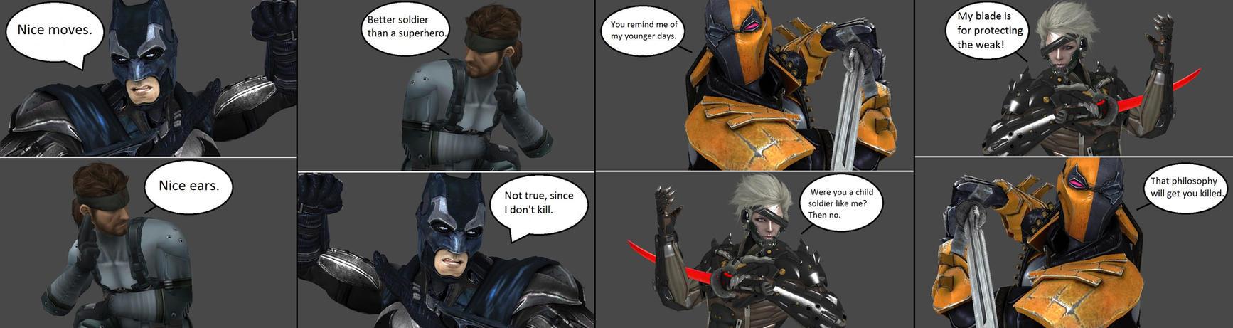Injustice Batman Vs Snake Deathstroke Vs Raiden By XXTrettaXx On