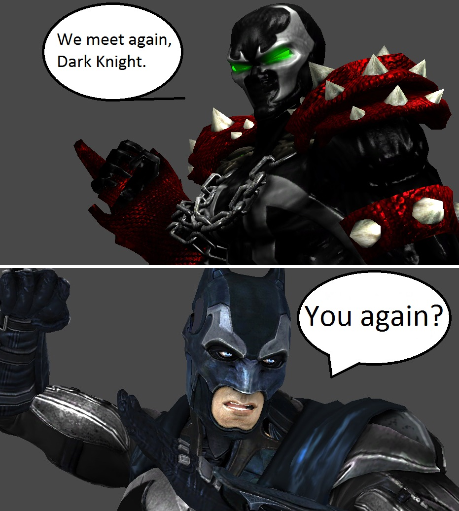 Injustice Spawn Vs Batman By XXTrettaXx