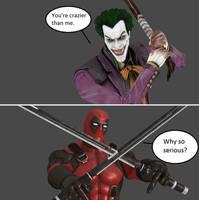 Injustice: The Joker vs Deadpool by xXTrettaXx