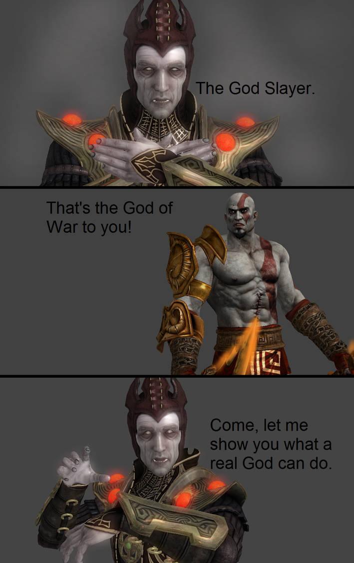 Mortal Kombat X: Shinnok vs Kratos by xXTrettaXx on DeviantArt