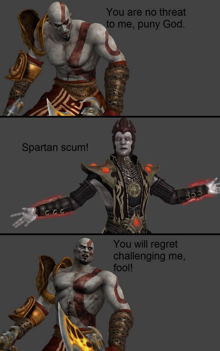 Mortal Kombat X: Kratos vs Shinnok by xXTrettaXx on DeviantArt