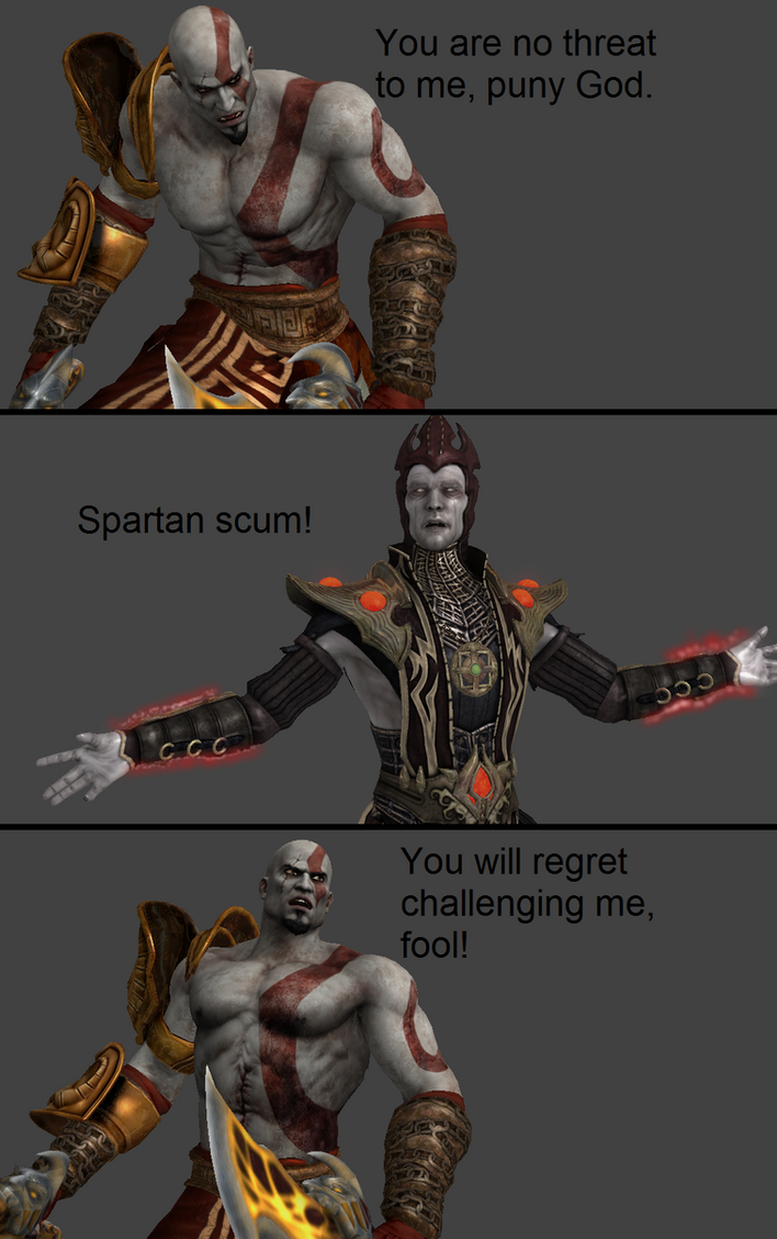 mortal kombat x kratos vs shinnok by xxtrettaxx on deviantart