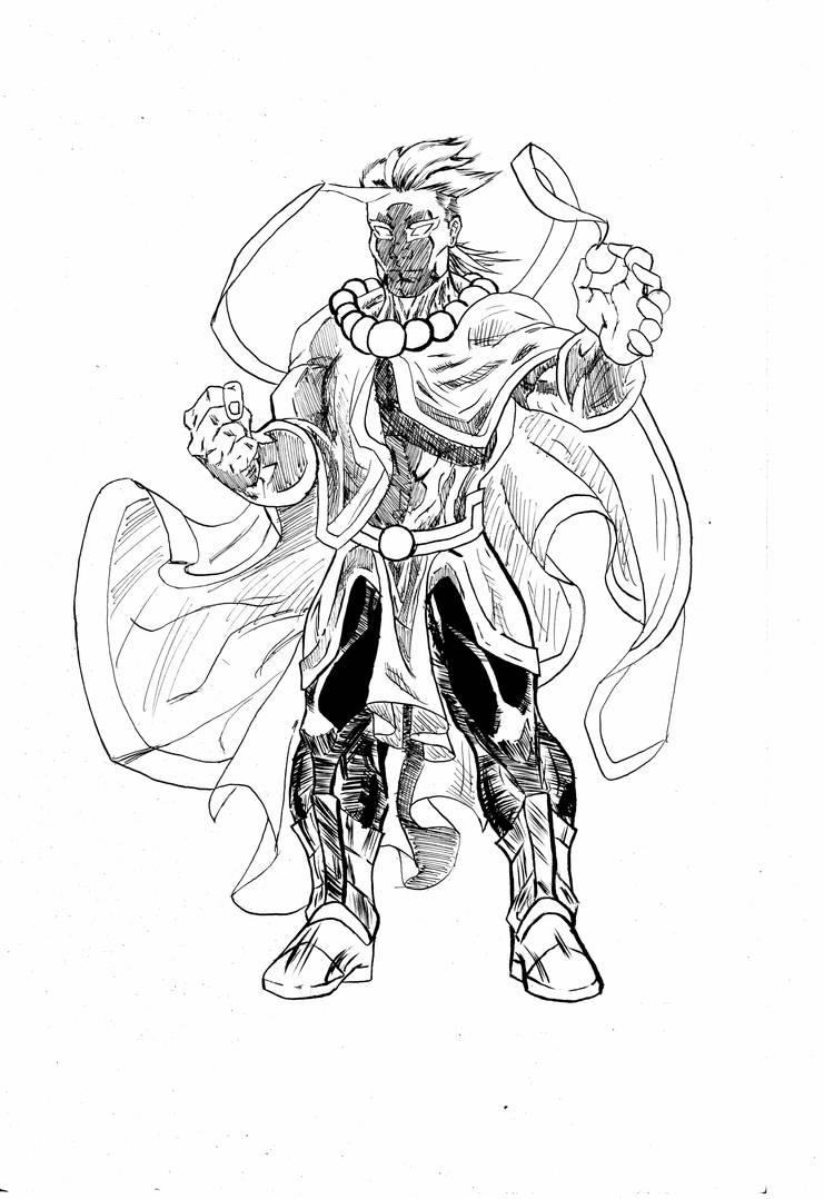 Creation God Zulsar (inks) by tdonahue