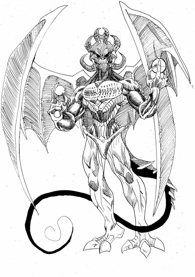 Zulzo God Of Destruction (Inks) by tdonahue