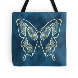 Hena Butterfly totebag by JoeyGates