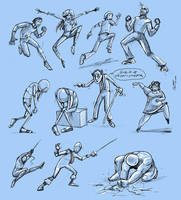 dynamic poses by JoeyGates