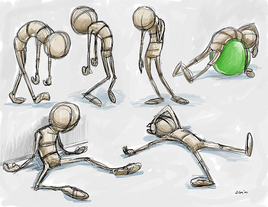 exhausted pose drawings by JoeyGates