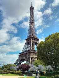 Late Spring around the Eiffel Tower by JN-Squire