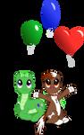Setting Off Balloons