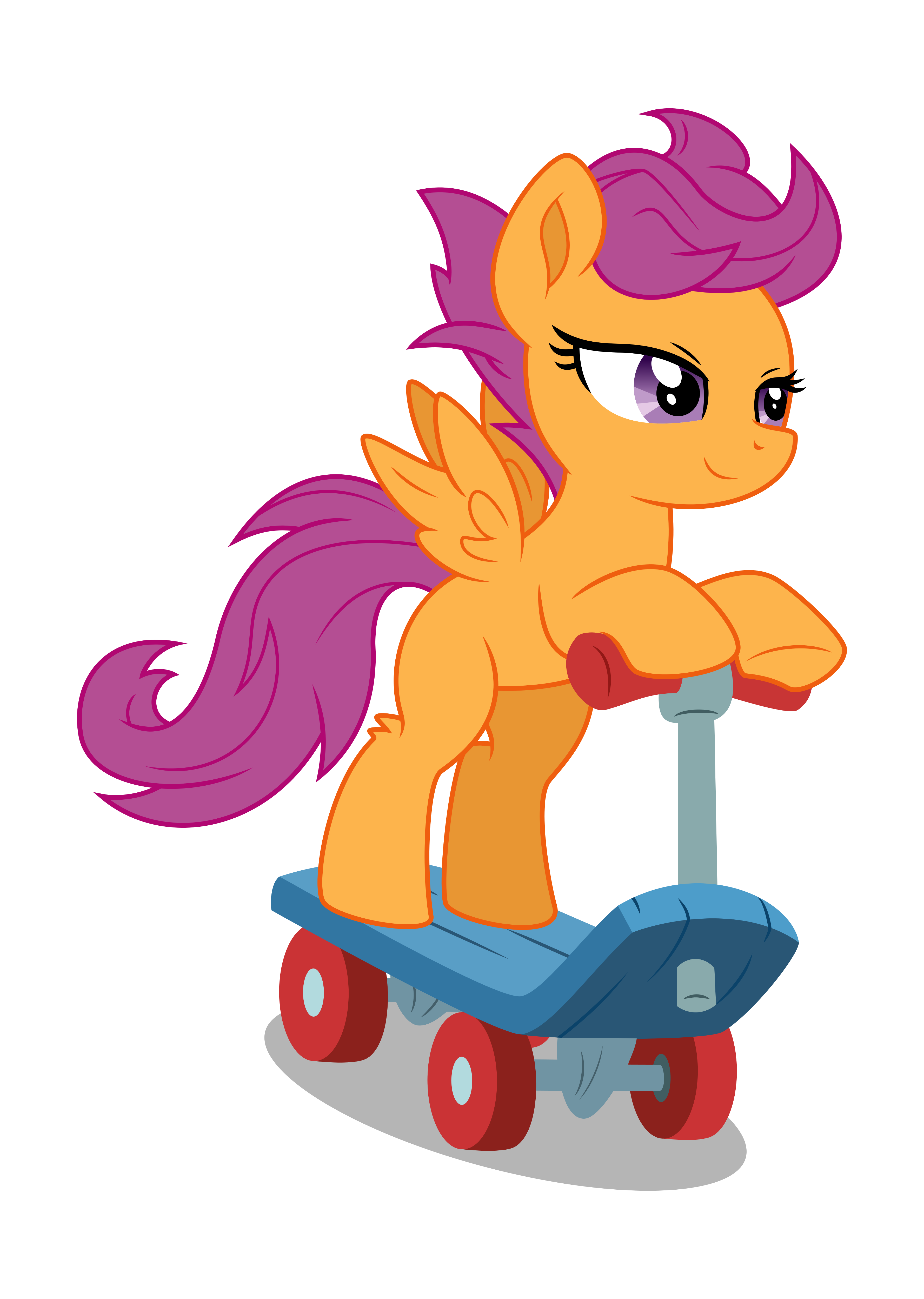 Scooting Along (Vectorized) by Ambassad0r