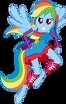 Rainbow Dash (Full Anthro) 200th deviation!