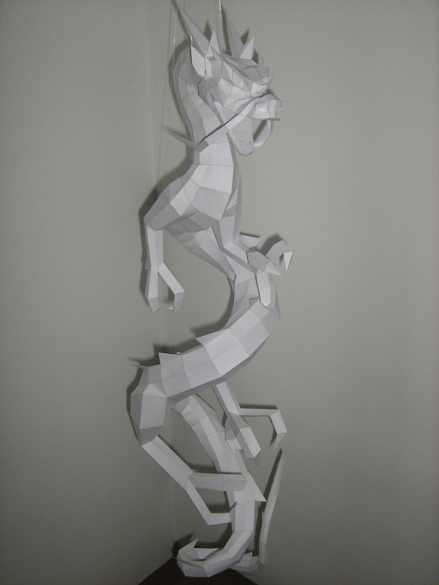 White Dragon Papercraft 1 by rafael2912