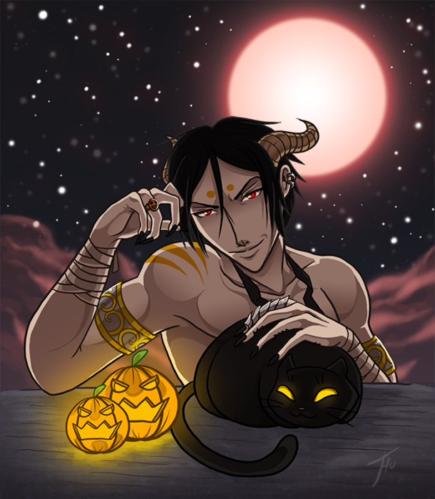 Halloween Sebastian by Thunddi