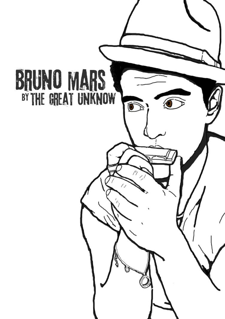 bruno mars coloring pages | bruno mars by the-great-unknow on DeviantArt