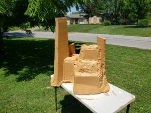 first coat of paint hive piece 1