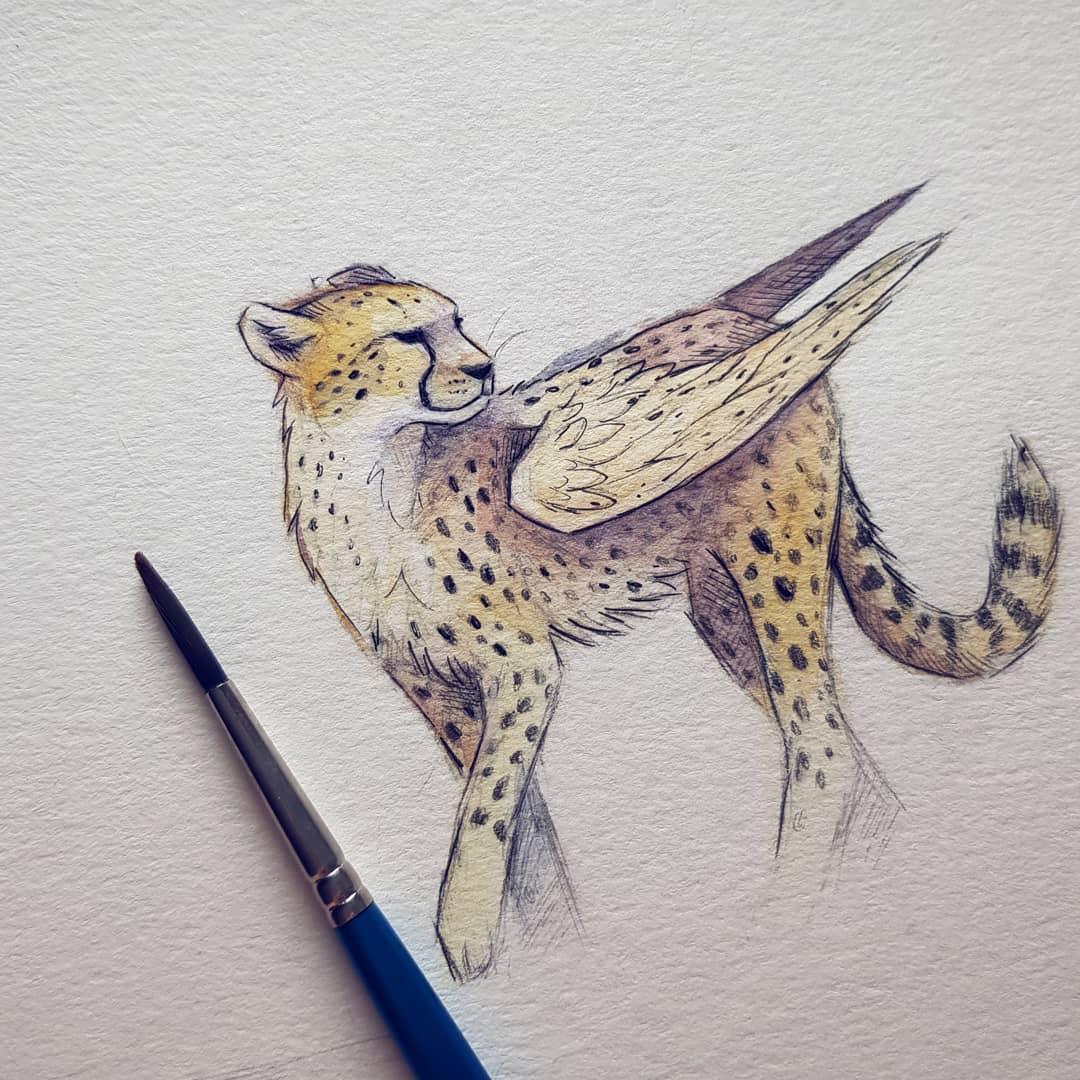 winged cheetah