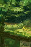 Pika in the Forest by Beachpie