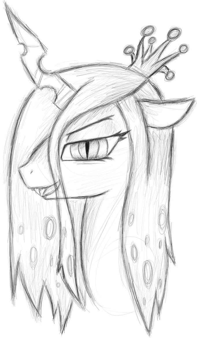 Queen sketch templates for Queen chrysalis coloring pages