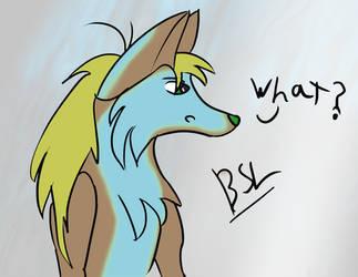 Random wolf by BlueSuneLight