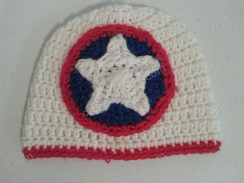 Free Crochet Pattern For Captain America Blanket : Captain America Shield Logo Inspired Crochet Hat by ...