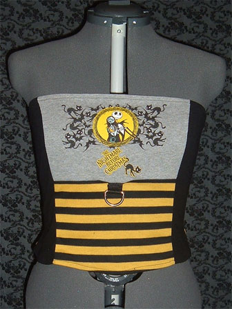 Jack and Sally Corset Top by crafterbynite