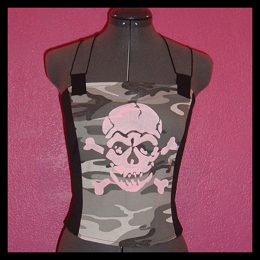 Skull Corset Halter Top by crafterbynite