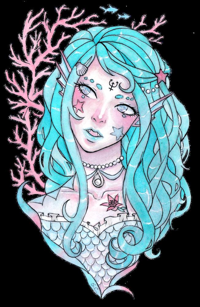 Aqua Mermaid by Serenyan
