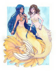 Commission - Mermaids by Serenyan
