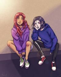 Hoodie Starfire and Raven