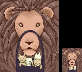 Pixel Lion