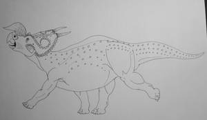 Einiosaurus Procurvicornis Ink