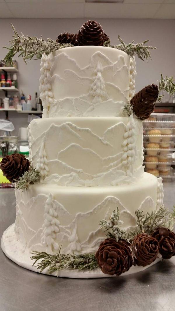 Icy mountain cake
