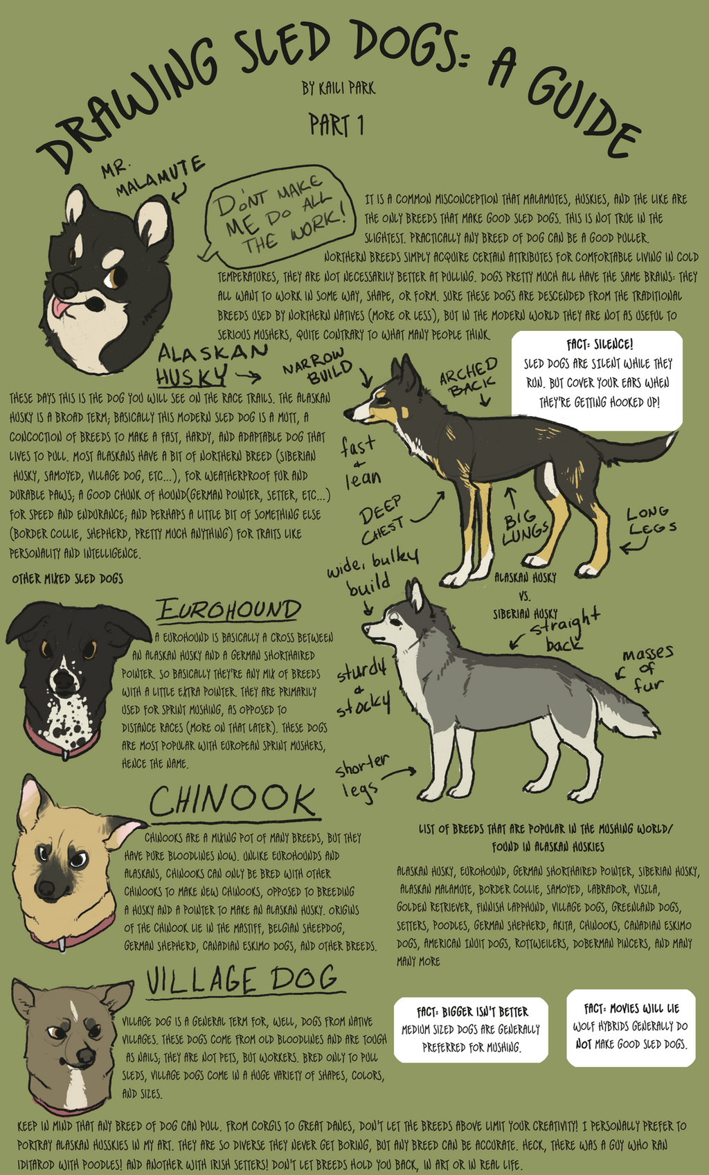 Drawing Sled Dogs: Part 1 By Blackseafoam