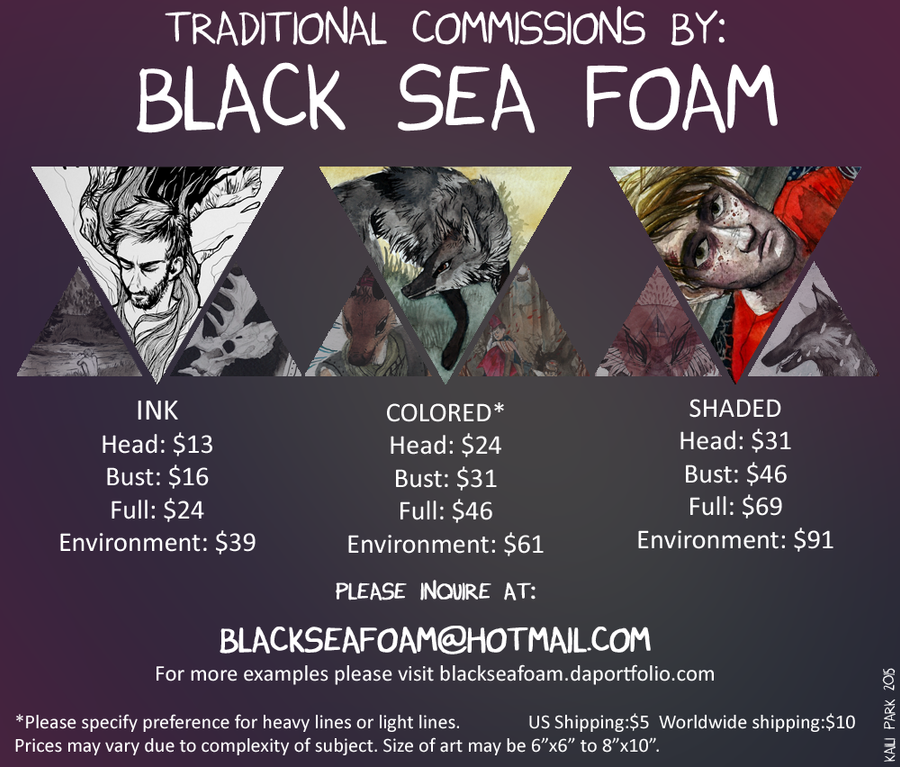 Black Sea Foam 2015 Commissions! by BlackSeaFoam