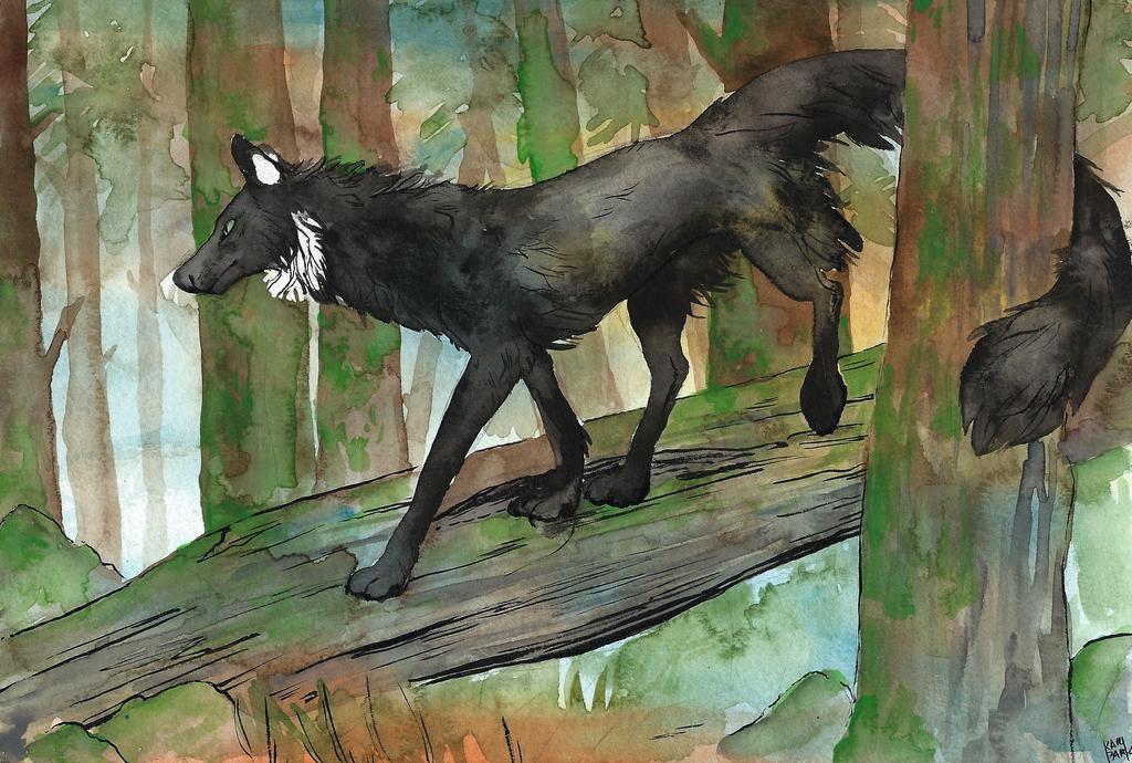 Moss crow by BlackSeaFoam